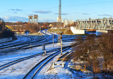 Kolejowa infrastruktura Obrazy Royalty Free