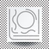 Kolejowa krzywa, prosta, okrąg, łuk, kolekcja set, illustrati Zdjęcia Royalty Free