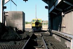 Kolejowa maszyneria przy Węglową elektrownią obraz stock