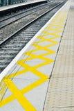 Kolejowa platforma obrazy stock