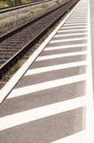 Kolejowa platforma Zdjęcie Stock