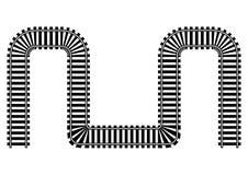 Kolejowa tor szynowy ilustracja Obraz Royalty Free