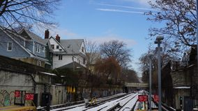 kolejowa zima Obrazy Stock
