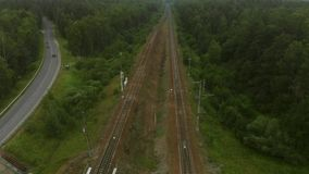 Kolejowego mosta antena zbiory wideo