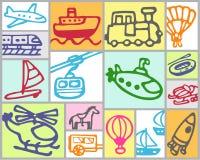kolejowego powietrza transportu morskiego Obraz Royalty Free
