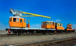 Kolejowej lokomotywy żuraw fotografia stock