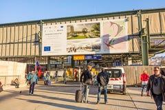 Kolejowi ślada przed Stuttgart 21 Zdjęcie Stock