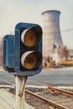 kolejowi sygnałowi światła Zdjęcie Royalty Free