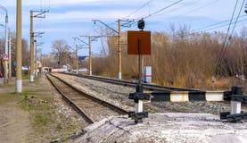 Kolejowy impas na torach szynowych zdjęcie stock