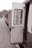 Kolejowy Kareciany drzwi Zdjęcia Royalty Free