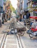Kolejowy ślad w Wietnam Fotografia Stock