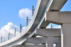 Kolejowy miasto most zdjęcie royalty free