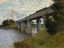 Kolejowy most przy Argenteuil, 1874 [2 obraz royalty free