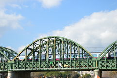 Kolejowy most w Mandelieu Zdjęcie Royalty Free