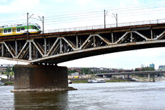 Kolejowy most w Warszawa Zdjęcie Royalty Free