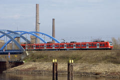 Kolejowy most Wittenberge zdjęcia royalty free