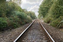 kolejowy pojedynczy ślad Obrazy Royalty Free