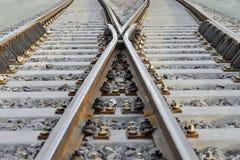 Kolejowy rozdroże Obrazy Stock