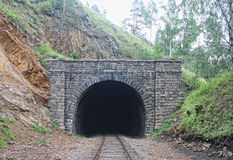 Kolejowy tunel fotografia royalty free