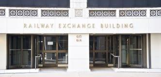 Kolejowy Wekslowy budynek, St Louis, Missouri Zdjęcia Stock