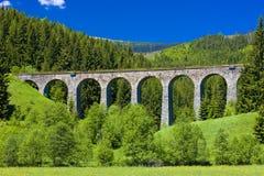 kolejowy wiadukt Zdjęcia Royalty Free