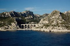 Kolejowy wiadukt Francja Fotografia Stock