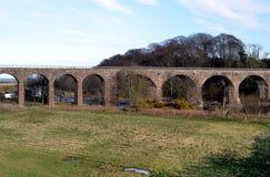 Kolejowy wiadukt Montrose, Szkocja Obrazy Royalty Free