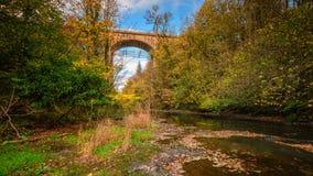 Kolejowy wiadukt nad Rzecznym Blyth obraz royalty free