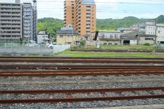 kolejowy wzór przy Japan Obrazy Royalty Free