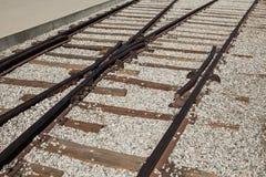 Kolejowy złącze Linia kolejowa poręcze Fotografia Royalty Free