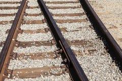 Kolejowy złącze Linia kolejowa poręcze Zdjęcia Stock