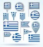 Kolekci flaga Grecja, wektorowa ilustracja Fotografia Royalty Free