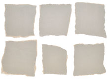 kolekci grey papieru kawałki rozdzierający Obrazy Royalty Free