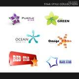 kolekci gwiazdy styl Obrazy Royalty Free