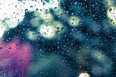 kolekci kropel natury deszczu okno Zdjęcie Royalty Free