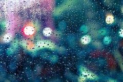 kolekci kropel natury deszczu okno Obrazy Stock