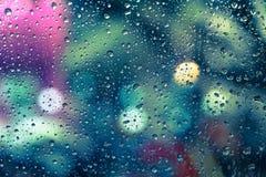 kolekci kropel natury deszczu okno Fotografia Stock