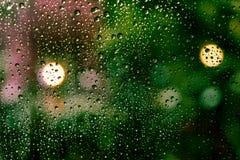 kolekci kropel natury deszczu okno Obraz Royalty Free