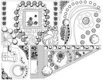 Kolekci od krajobrazu plan z treetop symbolami ilustracji