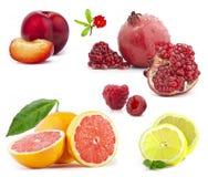 kolekci owoc Zdjęcia Royalty Free