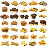 kolekci piec ciasto świeżo Zdjęcia Stock