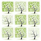 kolekci sztuki projekta drzewo twój ilustracji