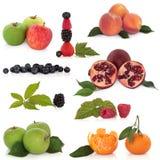 kolekci zdrowy owocowy obrazy royalty free
