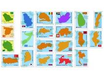 kolekci znaczka wektor Obrazy Stock