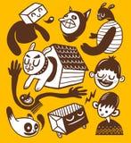 kolekcj doodles Obrazy Royalty Free