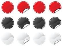 kolekcj etykiety Fotografia Stock