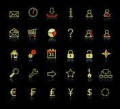 kolekcj ikon sieć royalty ilustracja