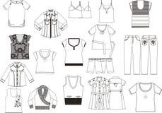 kolekcj ubraniowe kobiety s Zdjęcie Royalty Free