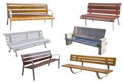 Kolekcja ławki Obraz Stock