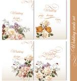 Kolekcja ślubni tła z kwiatami Obraz Stock